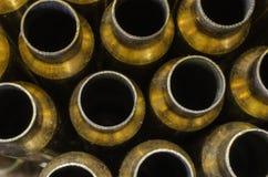 Cubiertas vacías de la bala desde arriba imagenes de archivo