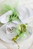 Cubierto de la boda Imagen de archivo