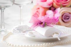 Cubierto de la boda Imagen de archivo libre de regalías