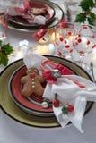Cubierto de la tabla de la Navidad foto de archivo