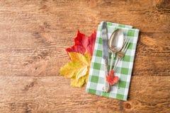 Cubierto del otoño de la acción de gracias Fotos de archivo libres de regalías