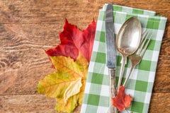 Cubierto del otoño de la acción de gracias Foto de archivo