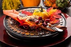 Cubierto del otoño y de la acción de gracias Fotografía de archivo libre de regalías