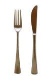 Cubiertos de la fork y del cuchillo Foto de archivo libre de regalías