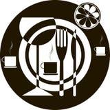 Cubiertos de los símbolos Fotografía de archivo libre de regalías