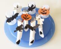 Cubiertos para Halloween Imagen de archivo