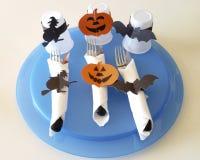 Cubiertos para Halloween Imagenes de archivo