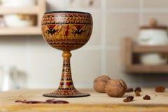 Cubilete de cerámica del vino Fotografía de archivo