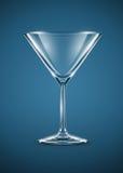 Cubilete de cristal para los cócteles de martini Imágenes de archivo libres de regalías