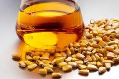Cubilete de etanol maíz-basado Foto de archivo libre de regalías
