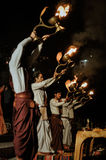Cubiletes ardientes en Uttarkhand Foto de archivo libre de regalías