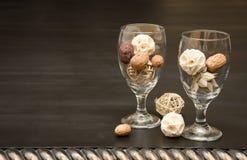 Cubiletes de cristal decorativos Fotografía de archivo libre de regalías
