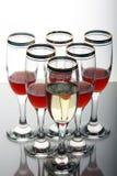 Cubiletes del vino imagenes de archivo