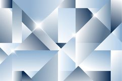 Cubism abstract background. Blue version Royalty Free Stock Images