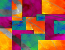 Cubism abstract colors background, dynamic art style, background design. Digital techniques used to make brush stroke effect and multi-color design. Beautiful Royalty Free Stock Photo