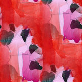Cubism abstract  pink, black, red art texture Stock Image