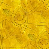 Cubism abstract  the yellow art texture watercolor Royalty Free Stock Images