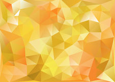 Cubism background Bitter yellow and orange Stock Image
