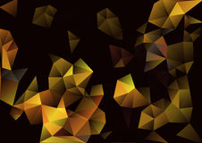 Cubism background Black and gold Royalty Free Stock Images