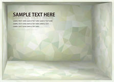 Cubism background Bright mint green depth space Royalty Free Stock Images