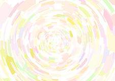 Cubism background Circle radiation Pale pink and yellow Stock Photography