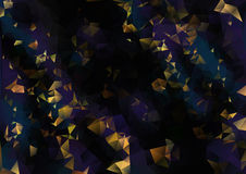 Cubism background The fine gold on black Stock Images