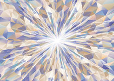 Cubism background radiation Cool navy blue and beige Royalty Free Stock Image