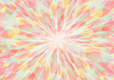 Cubism background radiation Gray and red green yellow Royalty Free Stock Photo