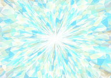 Cubism background radiation White and cyan Royalty Free Stock Images
