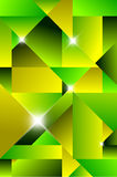 Cubism modern abstract background. Green and yellow Royalty Free Stock Photos