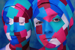 Cubism styled ladies Stock Image