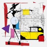 Cubisme de fille de mode illustration libre de droits