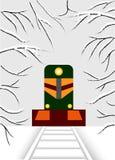 cubisme La locomotive a le ressort illustration libre de droits