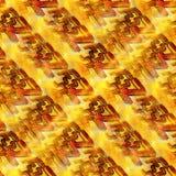 Cubisme rouge jaune sans couture d'aquarelle de photo illustration de vecteur