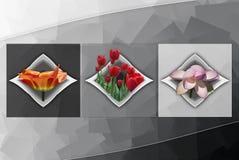 Cubismo floral Foto de Stock Royalty Free