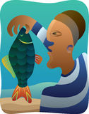 Cubist Fisherman Stock Image