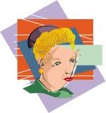 Cubist-Frau Lizenzfreies Stockfoto