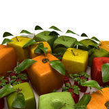 Cubist fruits Royalty Free Stock Photography