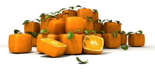 Cubistic oranges Stock Images