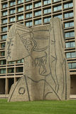 Cubistic sculpture the Bust of Sylvette created by Carl Nesjar in collaboration with Pablo Picasso. NEW YORK - JUNE 16, 2016: Cubistic sculpture known as the Stock Photography