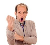 Cubital Sign Like The Middle Finger Royalty Free Stock Photography