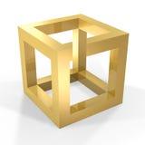 Cubo ótico do illustion ilustração do vetor