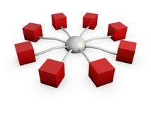 Cubo 1 da conexão Foto de Stock