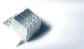 Cubo 1 del metallo immagine stock libera da diritti
