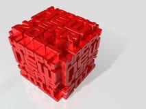 cubo 2011 da arte 3d Imagem de Stock Royalty Free