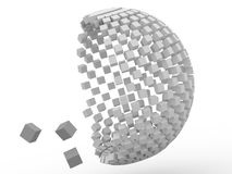 cubo 3d Foto de archivo