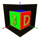 cubo 3D Imagens de Stock Royalty Free