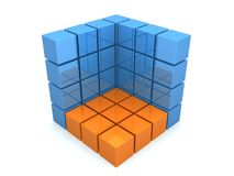 Cubo 3d abstrato ilustração stock