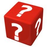 Cubo 3d de la pregunta Imágenes de archivo libres de regalías