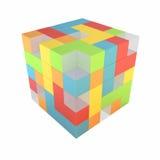 Cubo abstracto Fotos de archivo